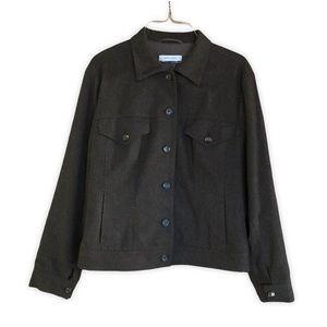 Rene Lezard Wool Cashmere Brown Button Down Coat